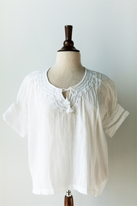 Danna Embroidered Cotton Top white