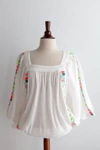 NEW Embroidered Peasant Blouse