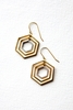 NEW Hexagon within Hexagon Earrings