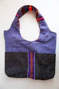 Lemlem Reversible Pocket Bag - purple