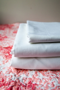 New Castaway Cotton Linen Sheets White