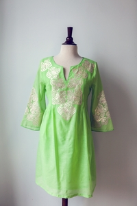 Cyprian Dress in Green