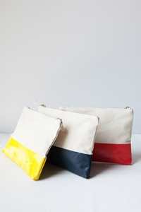 NEW Dipped Canvas Pouch