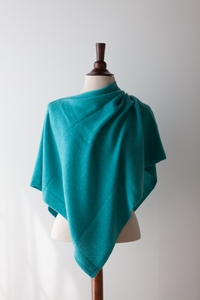 NEW Faro Cashmere Poncho in Aquario