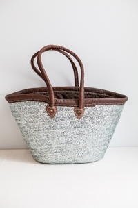 NEW Sequin Straw Tote