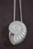 Silver and Diamond Nautilis Pendant/3 Strands