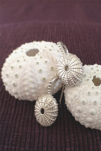 Silver Sea Urchin Earring with hook