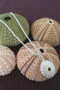 Silver Sea Urchin Pendant - small