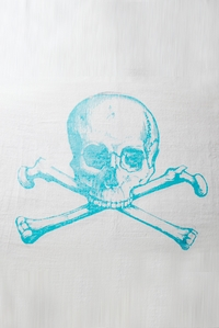 Skull Towel in Blue