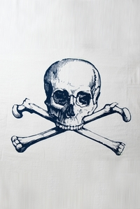 Skull Towel in Navy