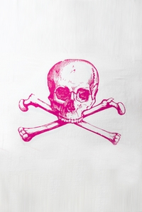 Skull Towel in Pink