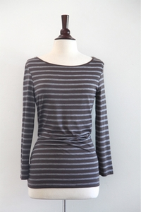 Striped T-shirt - grey