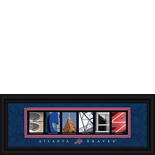 Atlanta Braves Framed Letter Art