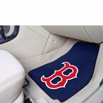 "Boston Red Sox ""B"" 2-Piece Carpet Car Mats"