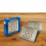 Boston Red Sox Boasters Stainless Steel Coasters - Set of 4