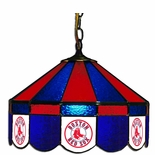 "Boston Red Sox MLB Team 16"" Diameter Stained Glass Pub Light"