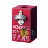 Chicago Blackhawks Bottle Opener Cap Caddy