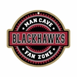 Chicago Blackhawks Man Cave Fan Zone Wood Sign