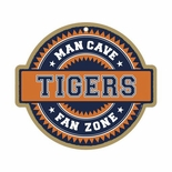 Clemson Tigers Man Cave Fan Zone Wood Sign