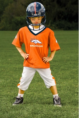 Denver Broncos NFL Youth Helmet and Uniform Set by Franklin - Medium