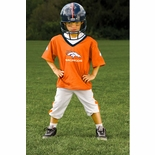 Denver Broncos NFL Youth Helmet and Uniform Set by Franklin - Small