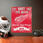 Detroit Red Wings Vintage Metal Sign