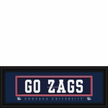 "Gonzaga Bulldogs ""Go Zags"" Stitched Jersey Framed Print"
