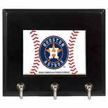 Houston Astros Wood Game Ball Key Rack