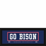 "Howard Bison ""Go Bison"" Stitched Jersey Framed Print"