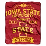 Iowa State Cyclones School Spirit Raschel Throw Blanket