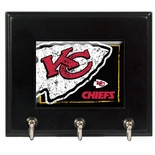 Kansas City Chiefs Wood Key Rack