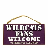 Kansas State Wildcats Fans Wood Welcome Sign