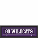"""Kansas State Wildcats """"Go Wildcats"""" Stitched Jersey Framed Print"""