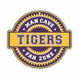 LSU Tigers Man Cave Fan Zone Wood Sign