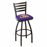 LSU Tigers Swivel Bar Stool with Ladder Style Back