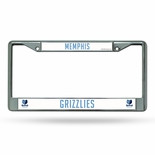Memphis Grizzlies Chrome License Plate Frame