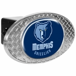Memphis Grizzlies Metal Diamond Plate Trailer Hitch Cover