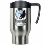 Memphis Grizzlies Stainless Steel Travel Mug