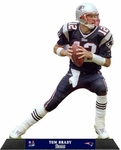 New England Patriots Tom Brady NFL Standz Photo Sculpture