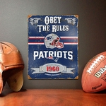 New England Patriots Vintage Metal Sign