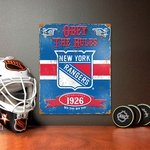 New York Rangers Vintage Metal Sign