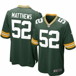 Nike NFL Green Bay Packers Clay Matthews Youth Replica Football Jersey