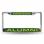 Oregon Ducks Alumni Laser Chrome License Plate Frame