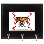 Pittsburgh Pirates Wood Game Ball Key Rack