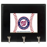 Washington Nationals Wood Game Ball Key Rack