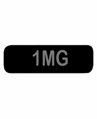 1MG Patch Small Black