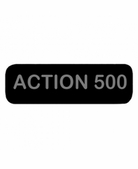 ACTION500 Patch Large Black