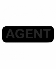 AGENT Patch Large Black with Black Letters