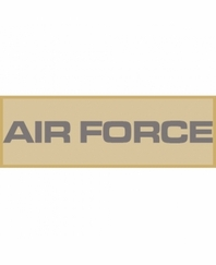 AIR FORCE Patch Large (Tan)