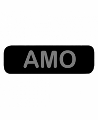 AMO Patch Small Black